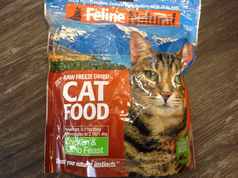 Feline Natural Freeze Dried Chicken& Lamb 350g
