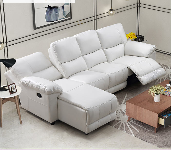 Living Room Sofa Set L Corner Sofa Recliner Electric Couch Genuine