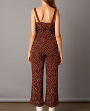 Load image into Gallery viewer, Brown Polka Dot Jumpsuit