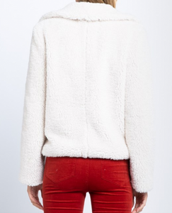 Cozy Teddy Faux Fur Zip-Up Jacket