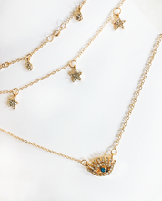 Load image into Gallery viewer, Star Gazing Gold Necklace