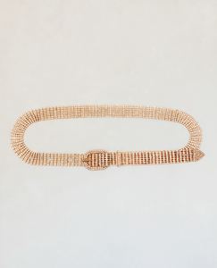Rhinestone Gold Bougie Belt
