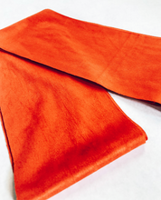Load image into Gallery viewer, Orange Suede Style Hair Scarf