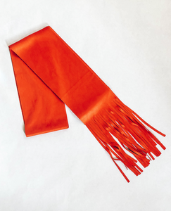 Orange Suede Style Hair Scarf