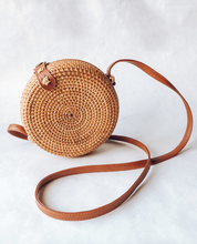 Load image into Gallery viewer, Round Hand Woven Crossbody Bag