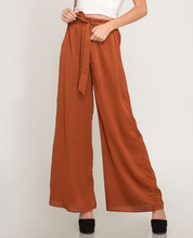 Load image into Gallery viewer, Satin Rust Wide Leg Pants