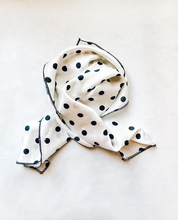Load image into Gallery viewer, White Polka Dot Hair Scarf