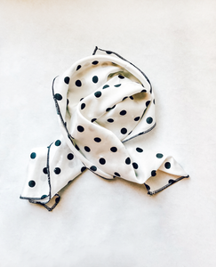 White Polka Dot Hair Scarf