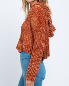 Tawny Knitted Hoodie Sweater