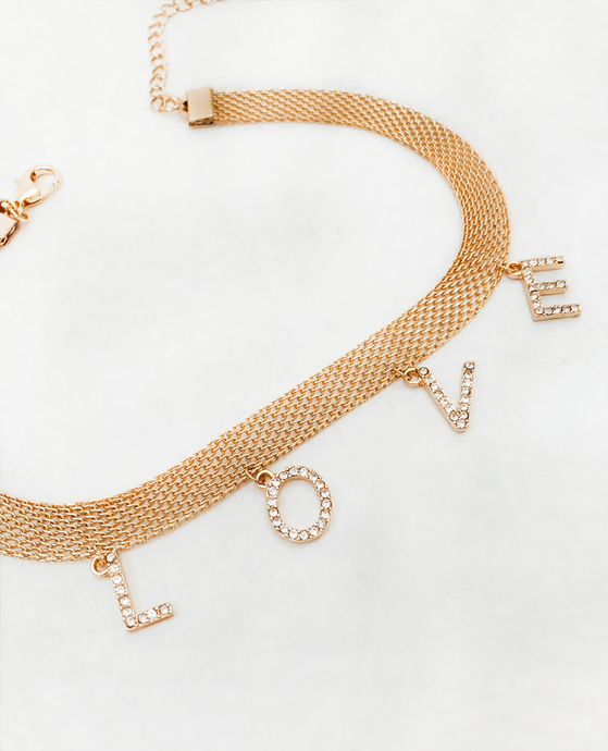 Gold Love Choker