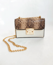 Load image into Gallery viewer, Too Glam Lady Snake Print Clutch