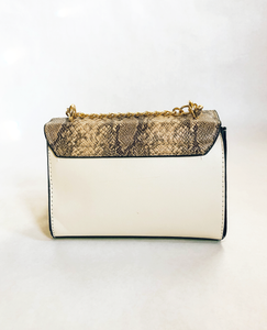 Too Glam Lady Snake Print Clutch