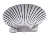 Sea Collection Pewter 2 In Clamshell Knob