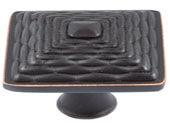 Mandalay Collection Venetian Bronze 1.26 In Square Knob