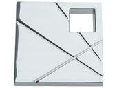 Modernist Collection Polished Chrome 1.5 In Square Knob  Left