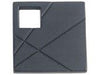 Modernist Collection Black 1.5 In Square Knob  Right