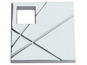 Modernist Collection Polished Chrome 1.5 In Square Knob  Right