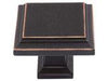 Sutton Place Collection Venetian Bronze 1.25 In Square Knob
