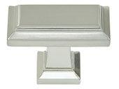 Sutton Place Collection Brushed Nickel 1.42 In Rectangle Knob