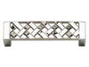 Lattice Collection Polished Nickel 3.3 In Pull