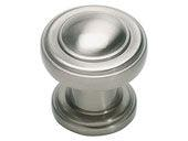 Bronte Collection Brushed Nickel 1.1 In Round Knob