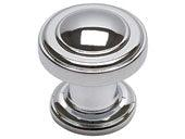 Bronte Collection Polished Chrome 1.1 In Round Knob