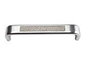 Boutique Crystal Collection Matte Chrome 5.3 In Inset Crystal Pave Arch Pull