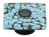 Glass Collection Matte Black 1.5 In Marine Square Knob