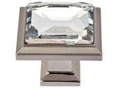 Legacy Crystal Collection Brushed Nickel 1.3 In Square Knob
