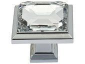 Legacy Crystal Collection Polished Chrome 1.3 In Square Knob