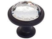 Legacy Crystal Collection Black 1.3 In Round Knob