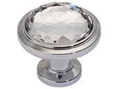 Legacy Crystal Collection Polished Nickel 1.3 In Round Knob