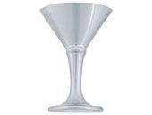 Liquor Collection Brushed Nickel 2 In Martini Glass Knob