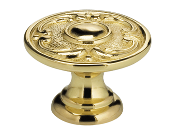 "1-13/16"" Diameter Omnia Circle and Scroll Cabinet Knob"