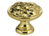 "1-1/8"" Diameter Omnia Ornate Flower Cabinet Knob"