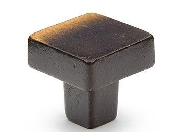 "Vinci Perfect Square Knob 1 1/4"" dia - Antique Bronze"