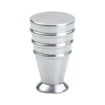 "Rounded Ribbed Joystick Knob - 15/32"" (12mm) Satin Stainless Steel"