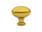 "Brass Egg Knob - 1 3/4"" (44mm)"