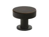 "Cadet Knob - 1"" (25mm) Oil Rubbed Bronze"