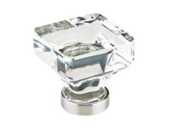 "Square Cabinet Knob - 1 1/4"" (32mm) Polished Chrome"