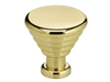 "1"" Diameter Omnia Banded Deco Cabinet Knob Polished & Lacquered Brass"
