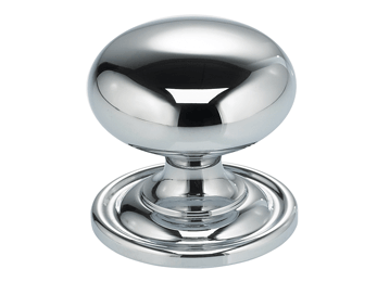 "1-3/16"" Diameter Classic Omnia Cabinet Knob With Backplate"