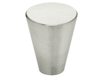 "3/4"" Diameter Omnia Tapered Cabinet Knob Satin Stainless Steel"
