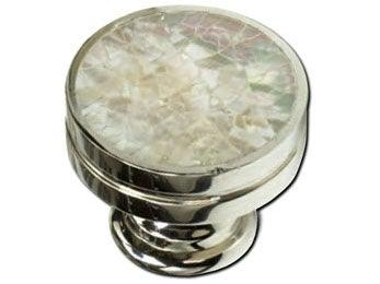 "Inlay Knob 1 3/8"" dia - Polished Nickel"