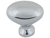 Successi Collection Polished Chrome 1.75 In Large Robins Egg Knob