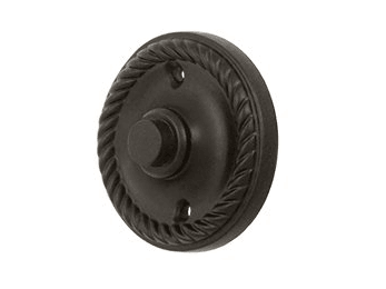 Round Rope Bell Button - Oil Rubbed Bronze