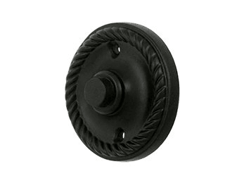 Round Rope Bell Button - Black
