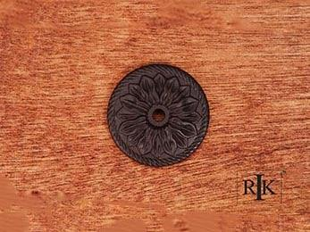 "Flower Knob Backplate 1 1/2"" (38mm) - Oil Rubbed Bronze"