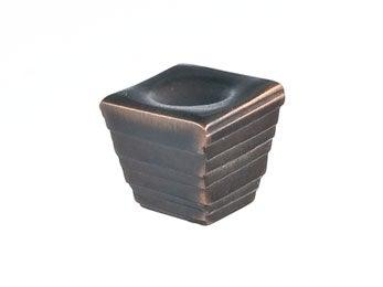 Forged 2 - Small Cube Knob  - Oil Rubbed Bronze - New York Hardware Online