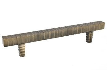 "Forged 3 - 9"" Square Bar Pull - Antique Brass - New York Hardware Online"